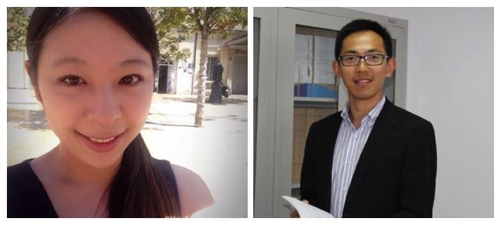 Collage de photos des étudiants Chen Wang et Kun Hui.