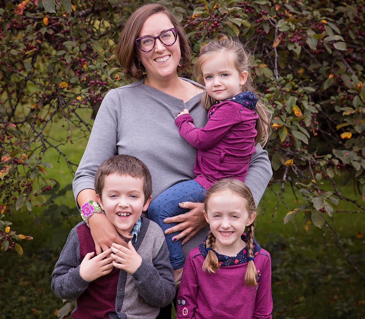 Danielle Lussier et ses trois enfants