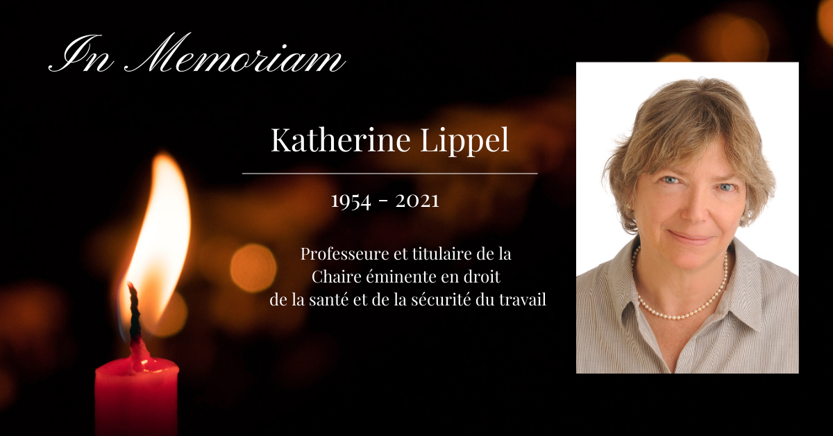 Image of a candle and Katherine Lippel's picture