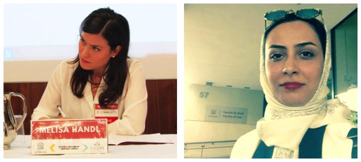 Collage de deux photos, une de Melissa Handl et une de Ghazaleh Jerban