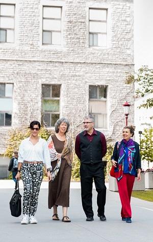 Cintia Quiroga, Françoise Moreau-Johnson, Marc Dubé and Margarida Garcia